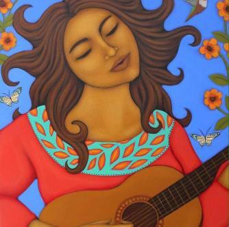 LuaLuna: La Femme Vibrante Peinture de Tamara Adams